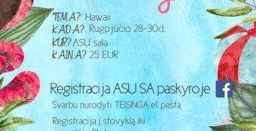 Kvietimas į ASU Fuksų stovyklą 2017